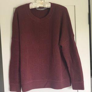 Athleta wool sweater-brick color